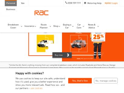 RAC Breakdown Cover & Car Insurance | Route Planner | RAC