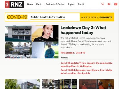 RNZ - NZ News, Current Affairs, Audio On Demand
