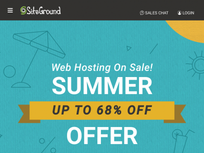 Web Hosting Services Crafted with Care from $4.99/mo - SiteGround