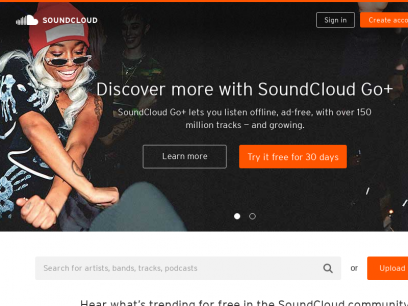 Stream and listen to music online for free with SoundCloud