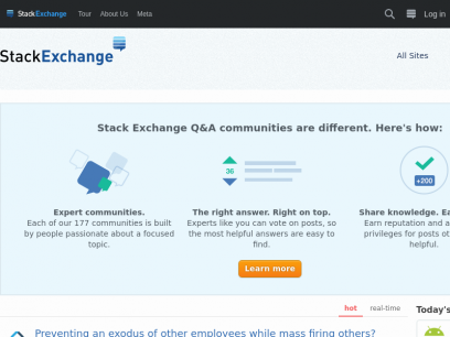 Hot Questions - Stack Exchange