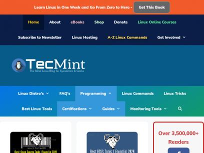 Tecmint: Linux Howtos, Tutorials & Guides