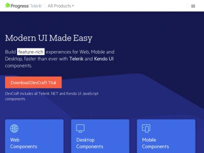 Telerik & Kendo UI - .NET Components Suites & JavaScript UI Libraries