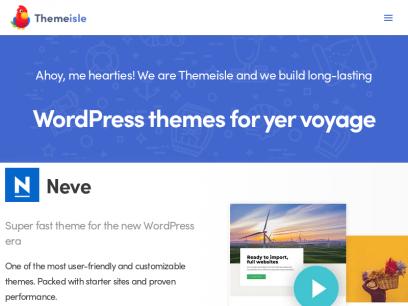 Premium WordPress Themes, Templates & Plugins @ ThemeIsle