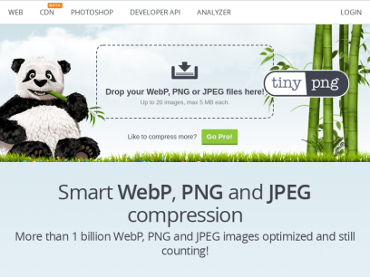 TinyPNG – Compress WebP, PNG and JPEG images intelligently