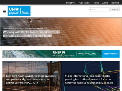 United Nations Environment – Finance Initiative – Partnership between United Nations Environment and the global financial sector to promote sustainable finance