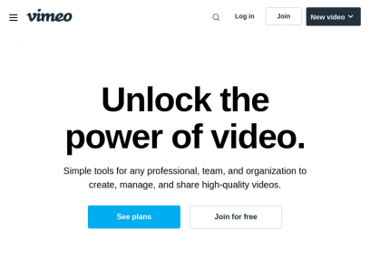 Vimeo | The world's only all-in-one video solution