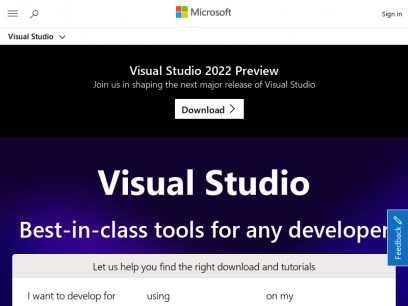 Visual Studio IDE, Code Editor, Azure DevOps, & App Center - Visual Studio