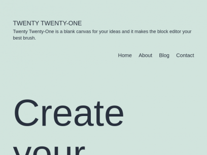 Twenty Twenty-One – Twenty Twenty-One is a blank canvas for your ideas and it makes the block editor your best brush.