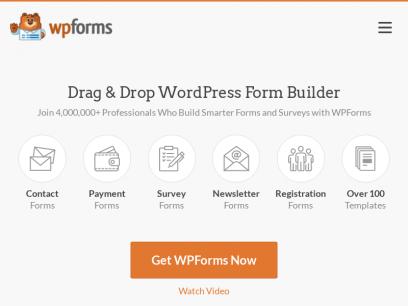 WPForms - The World's Best Drag & Drop WordPress Forms Plugin