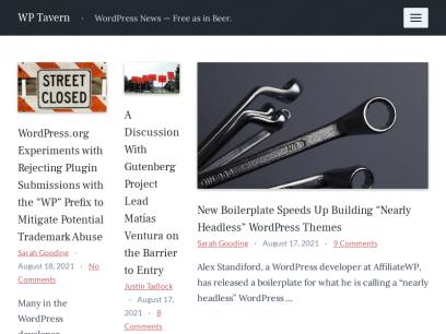 WP Tavern – WordPress News — Free as in Beer.