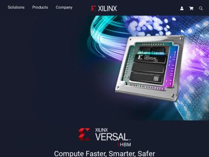 Xilinx - Adaptable.  Intelligent.