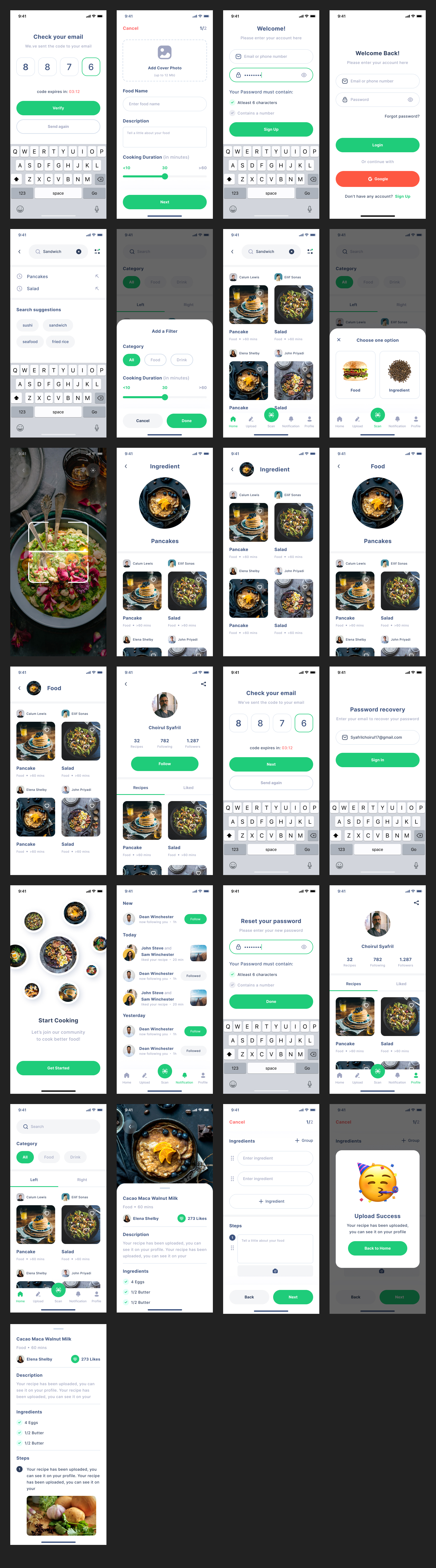 Chefio Recipe Free App UI Kit - Chefio is FREE UI Kit that we concern about the quality and style. This is apps coincides with 7 features and 20+ screens that will help you to find the best recipes apps you need and can scan any ingredients you don't know to know the name and details. Every screen created by our best designer with a clean and simple style. Also, we concern about the element to be componentized to be easily edited in the future. All layers are well organized with a style guide.
