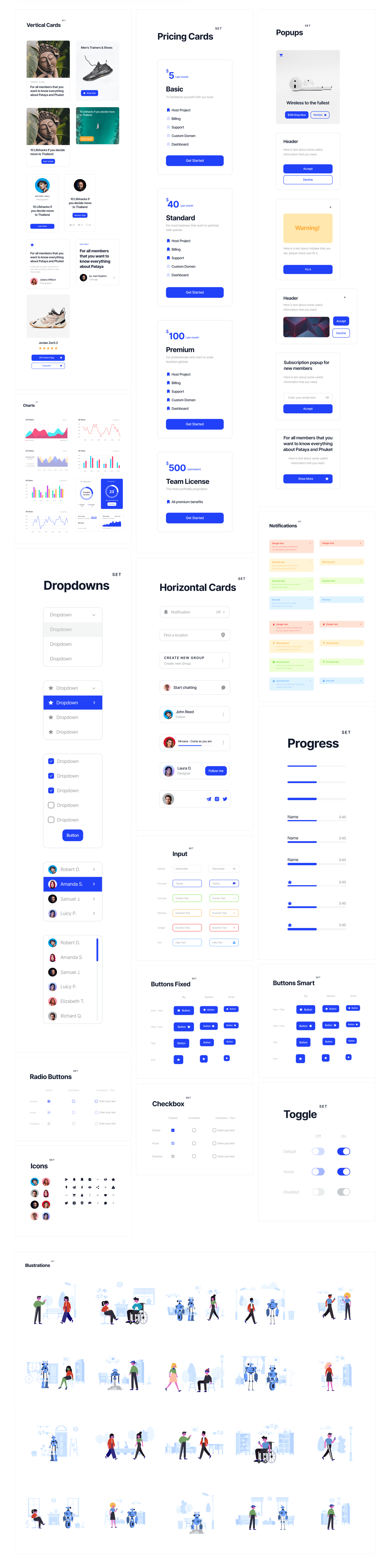 Deca Free UI Kit - Clean and clear UI Kit with necessary stuff to create design projects. It's the simplest way to work with buttons, charts, inputs, and popups with saving huge amount of time. Let your workflow become pleasant and trust such things to Deca UI Kit.