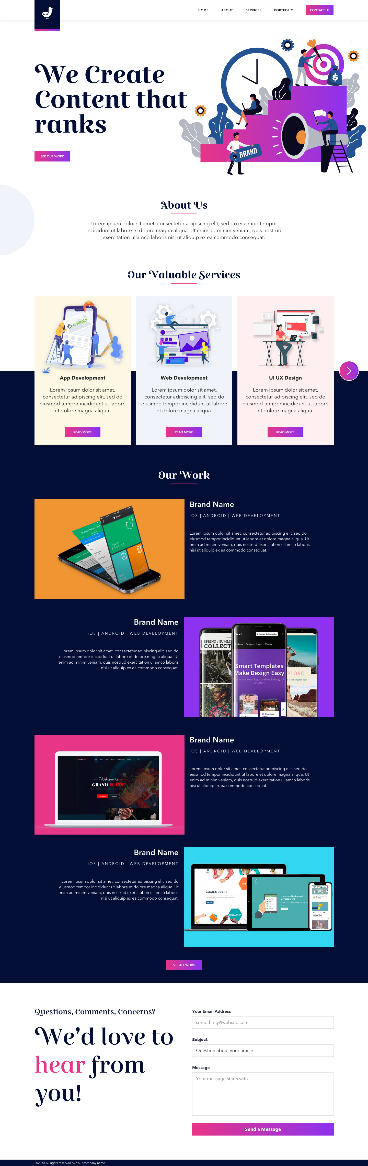 Digital Marketing Landing Page for Sketch - Minimal and clean landing page design, great for you to get started a new project.