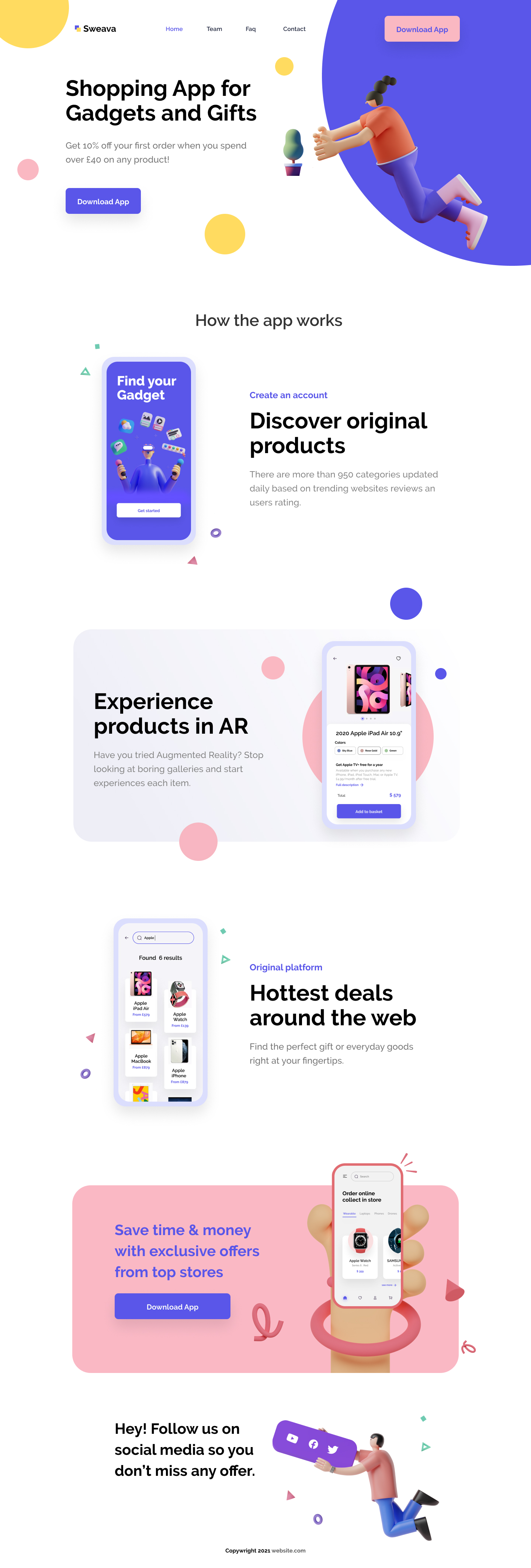 eCommerce Free Landing Page for Figma - Clean and clear landing page with necessary stuff to create a new design projects.