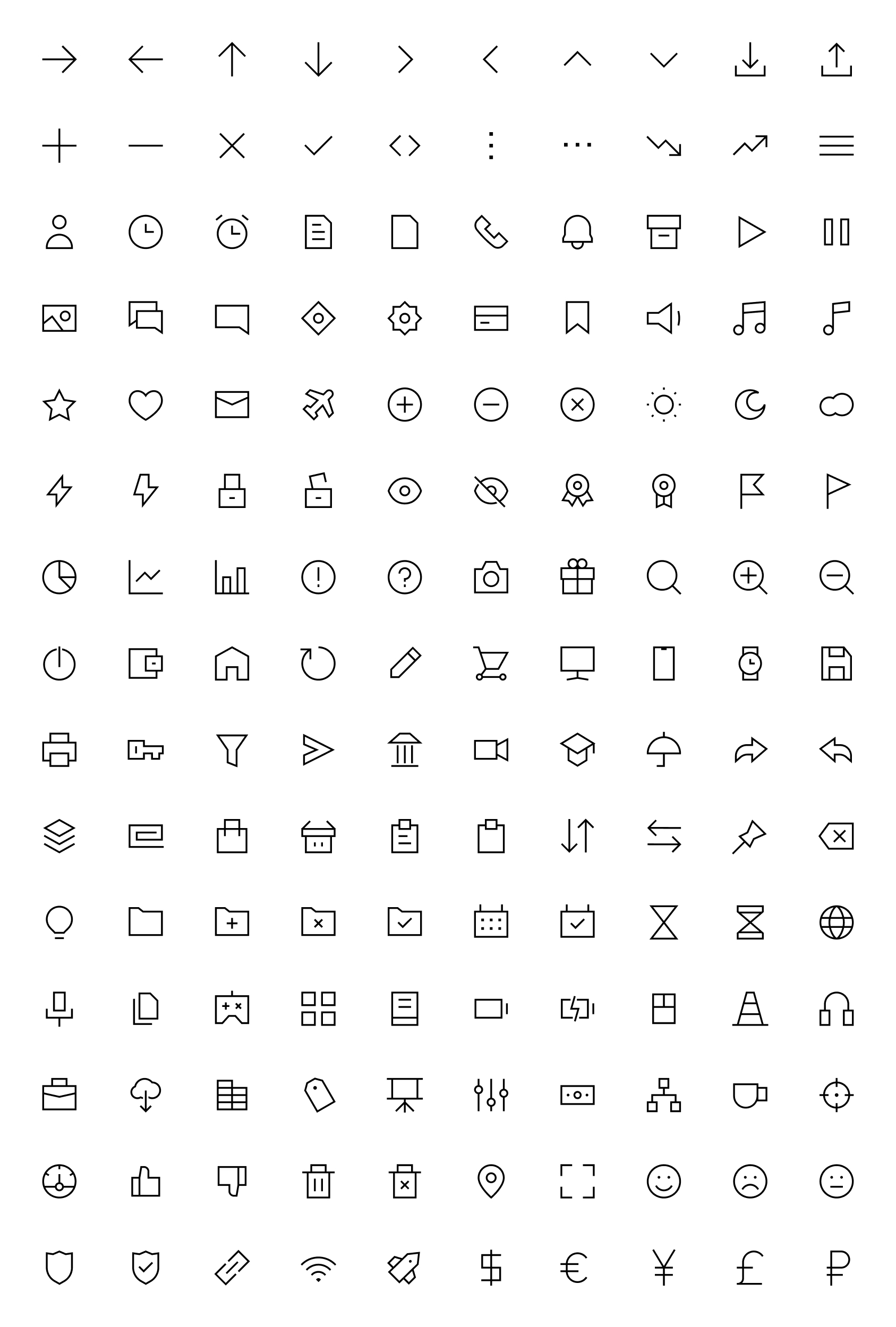 Free Edge Icons - Outline icons that work in any style of design project. Get 150 icons in 3 styles of line: medium, regular, thin. Collection gathered with the most functional topics, that cover the most frequently asked requests of the designer.
