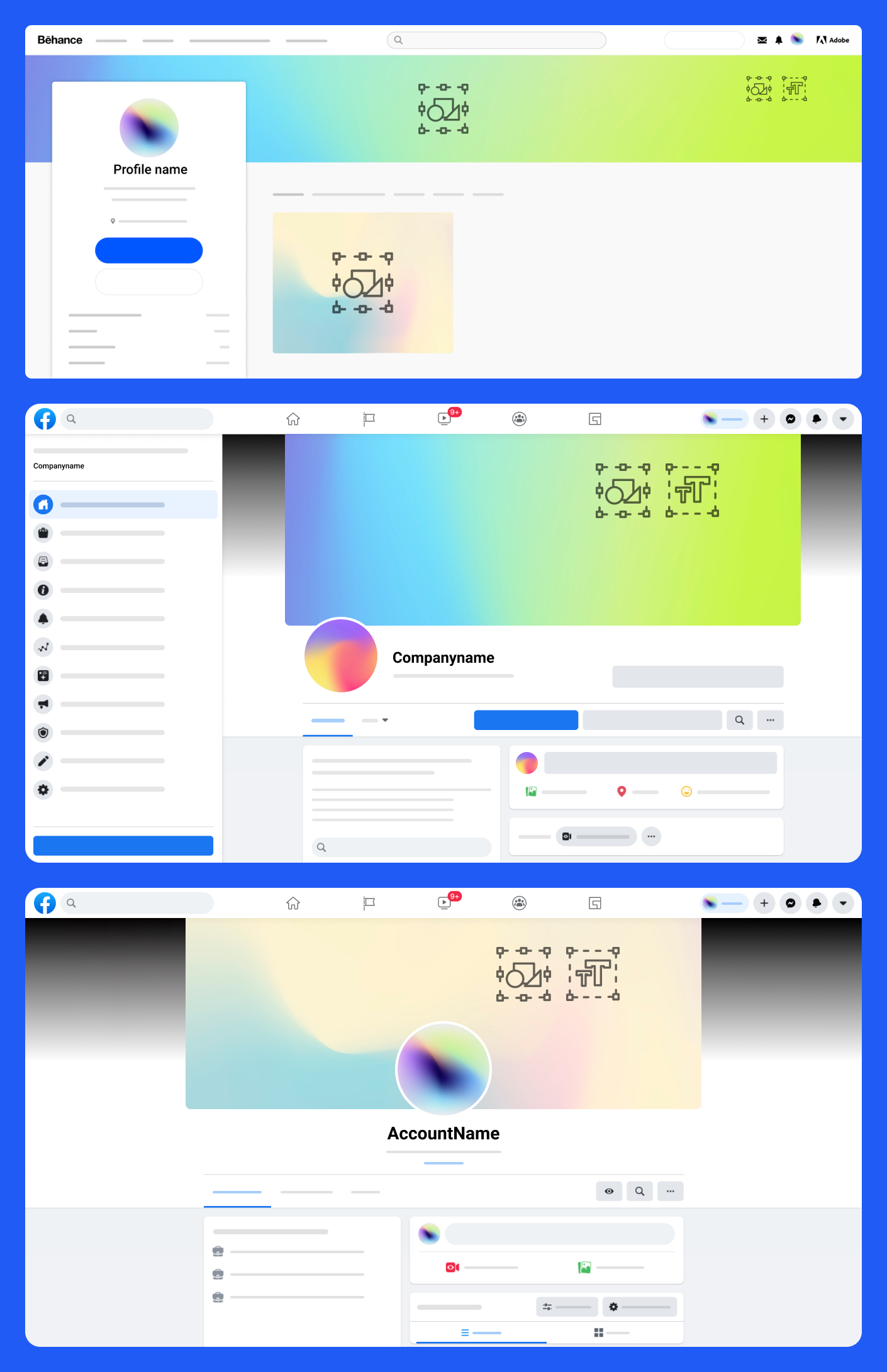 Free Social Media Kit for Figma - This project is created to make life easier for designers around the world. Quickly and easily package your visual environment across different social networks and services: