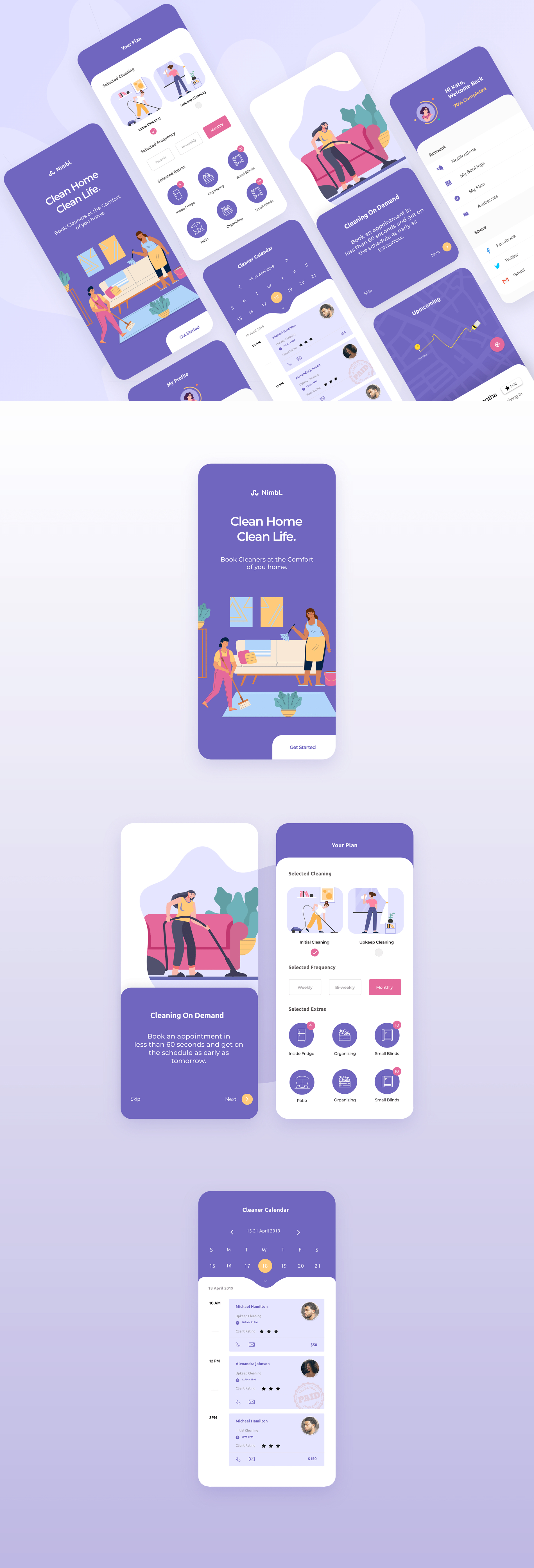 Home Cleaning App for Adobe XD   uistore.design