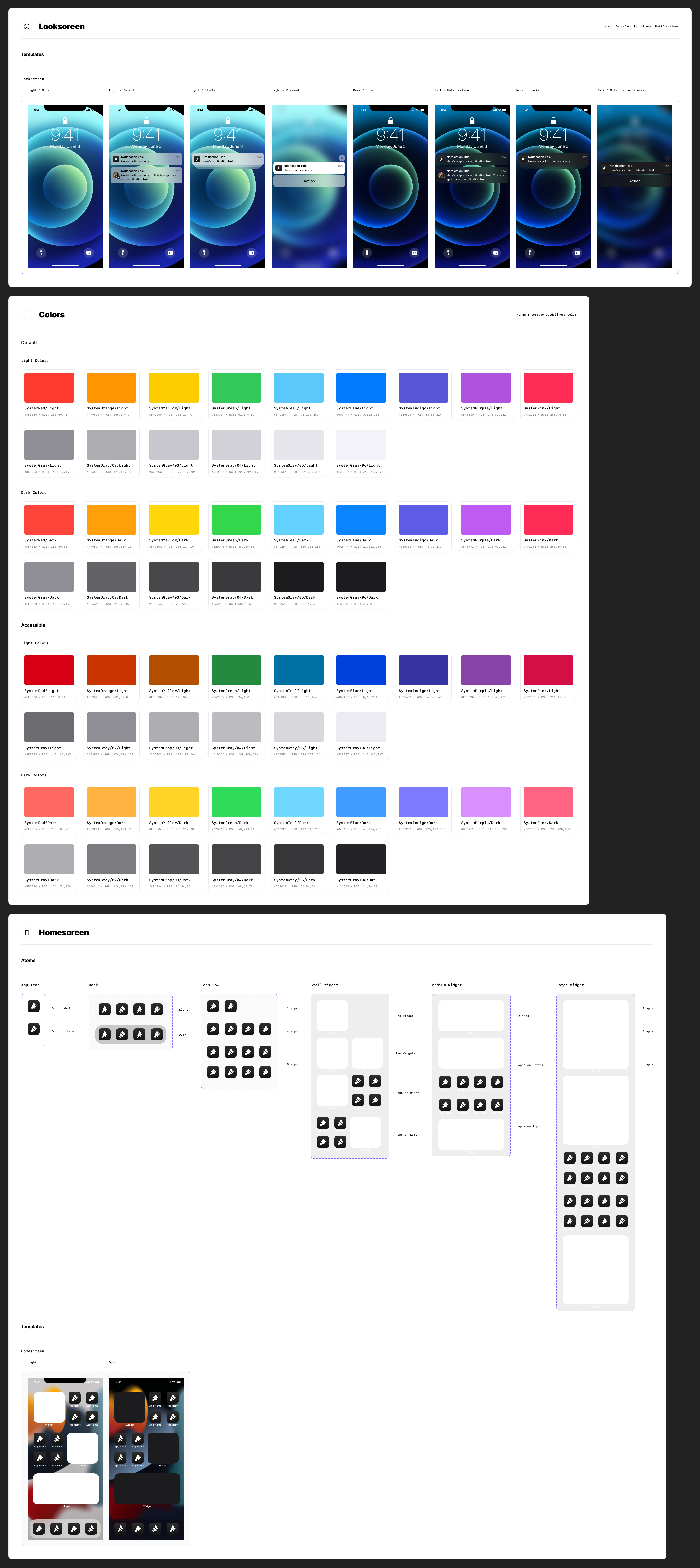 iOS 15 Free UI Kit for Figma - This free UI Kit includes dozens of new and refactored components, text styles, color styles, hundreds of variants, light/dark mode, & more.