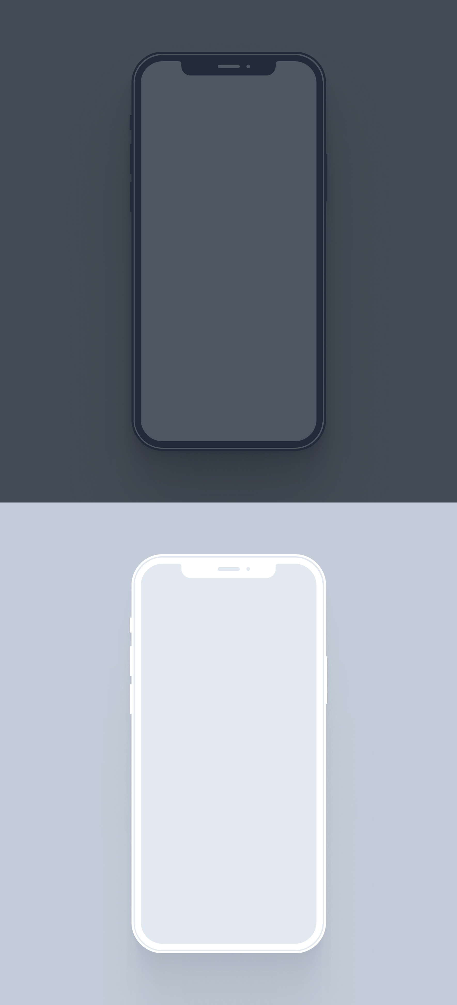 iPhone 12 Pro Free Mockup for Figma - Elegant and clean free iPhone 12 mockup for any kind of app. Dark & Light devices for you to get started.