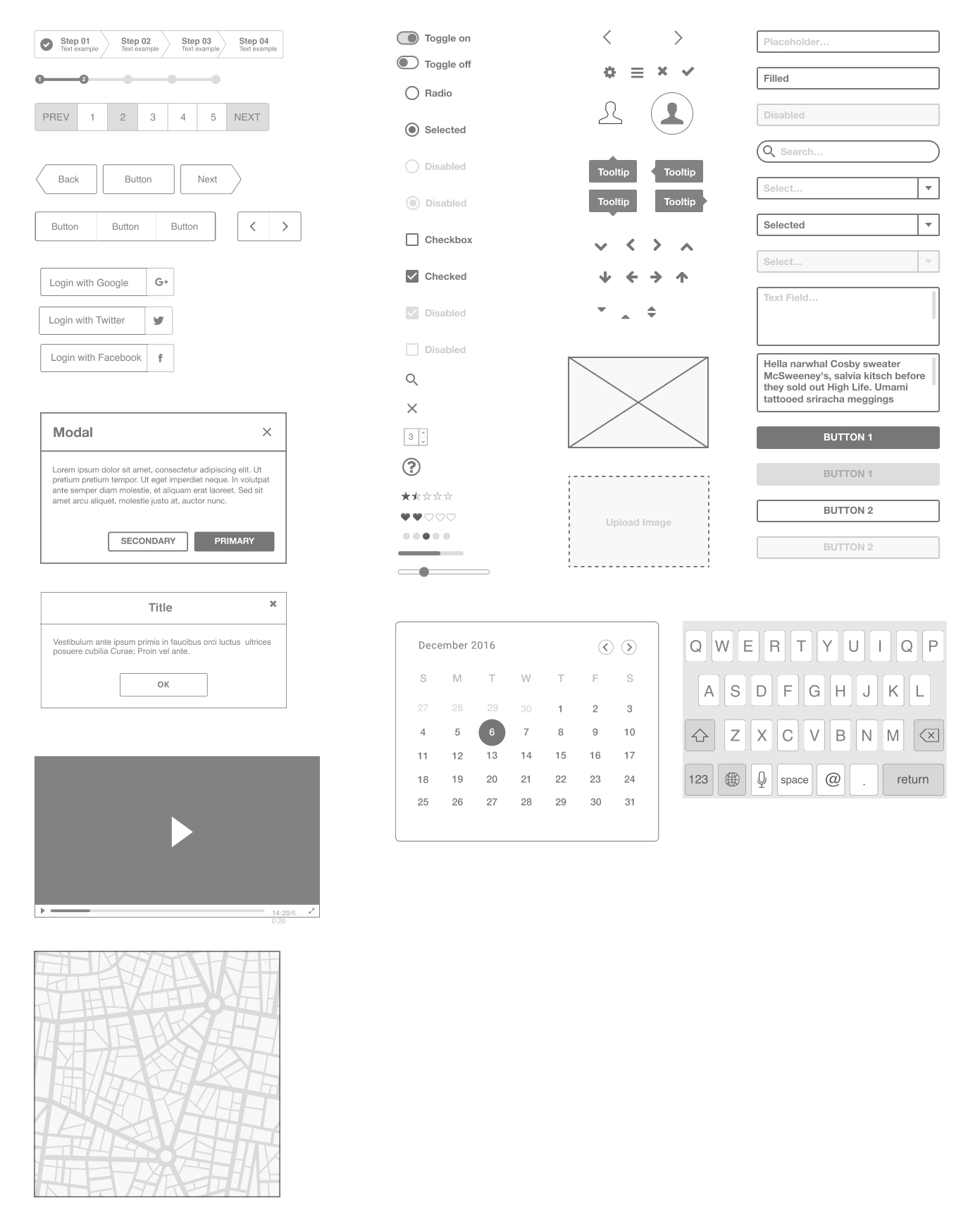 Ironhack Free Wireframe UI Kit - Use this wireframe kit to make your first steps as a UX/UI Designer using Figma. This kit contains useful bits and pieces, UI elements, and Interface components to rapidly build your designs, convey your ideas or test.