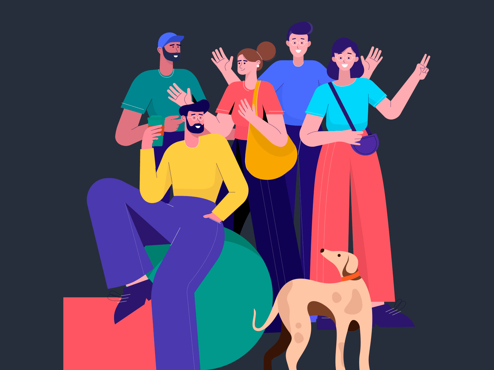 Lifestyle Free Illustrations - 12 colorful vector illustrations about lifestyle. Saving you time as a designer and money as a startup owner or an entrepreneur.