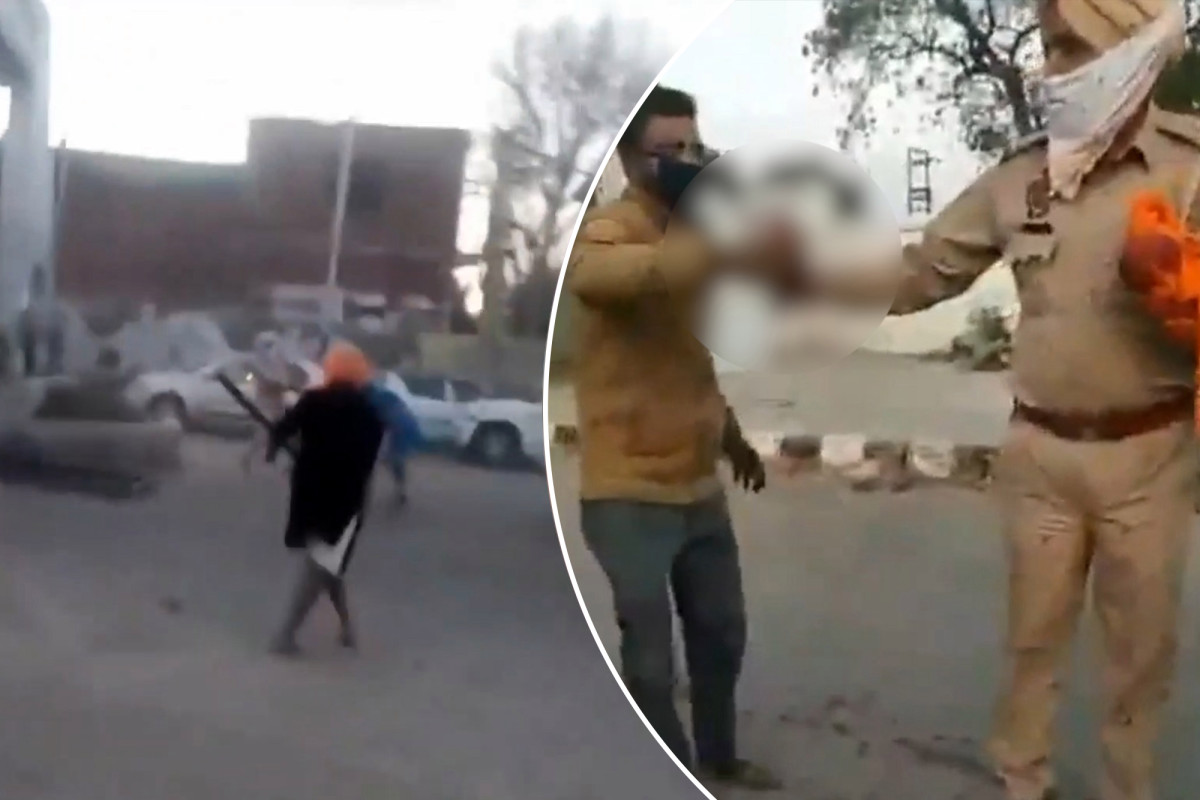 Video shows moment cop gets hand chopped off by sword-wielding maniac