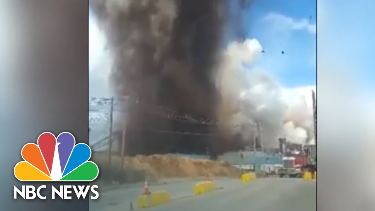 Watch: Massive Explosion At Paper Mill In Maine | NBC News NOW