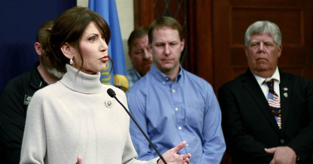 South Dakota Gov. Noem, who opposed stay-home order, now deals with coronavirus hot spot