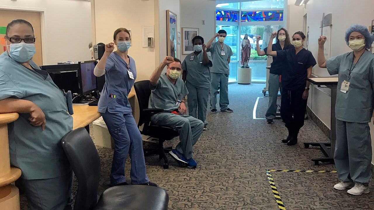 California nurses suspended for refusing to treat coronavirus patients without N95 masks, union says