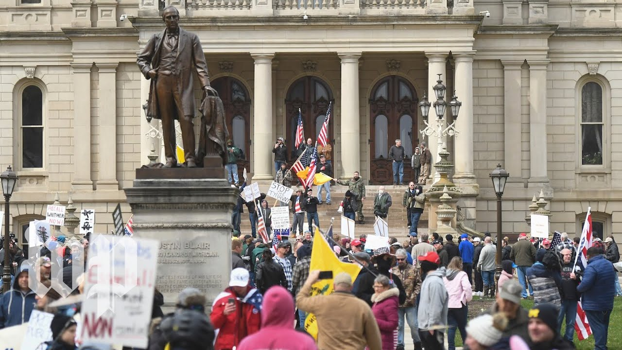 Protesters clog Michigan Capitol to oppose lockdown