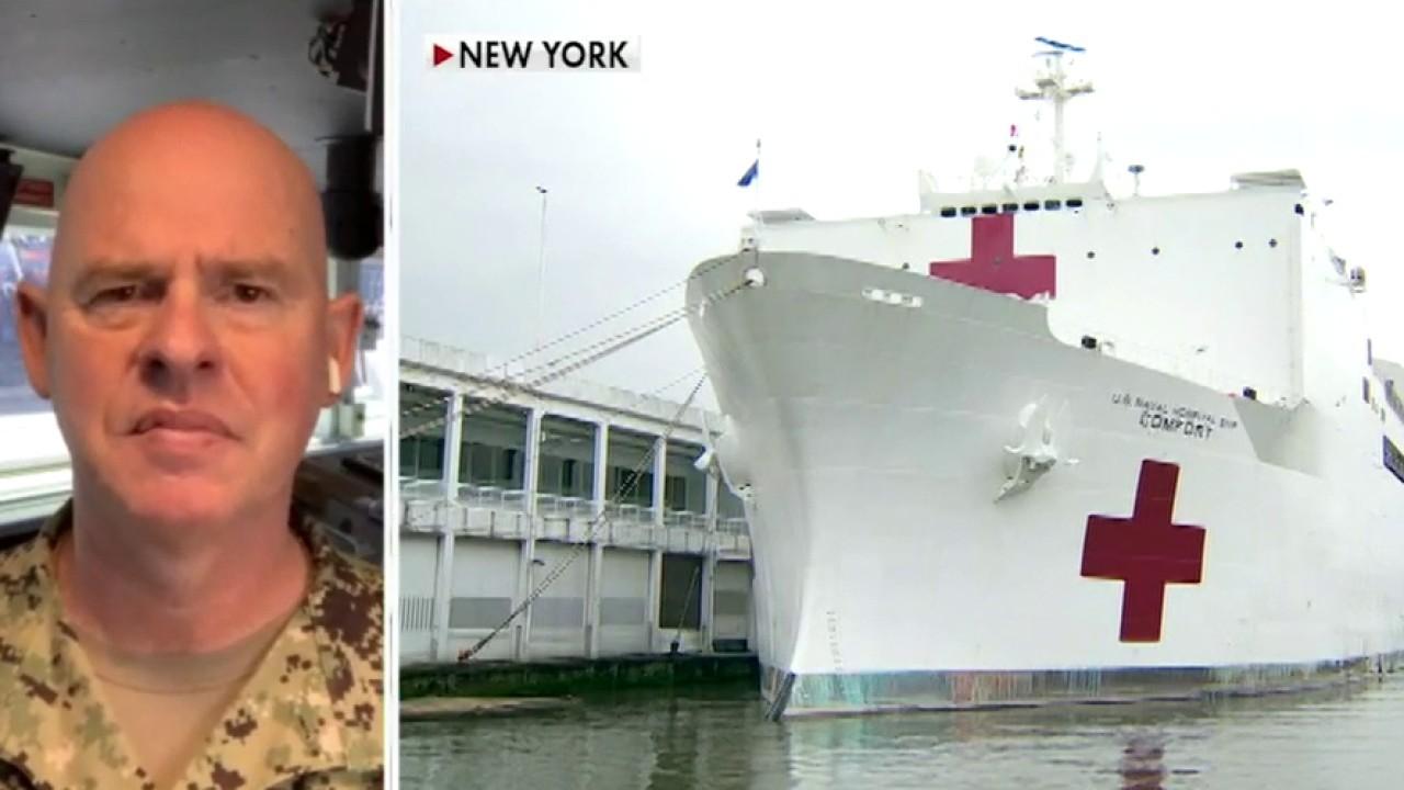 USNS Comfort commander describes how Navy doctors save lives aboard the hospital ship