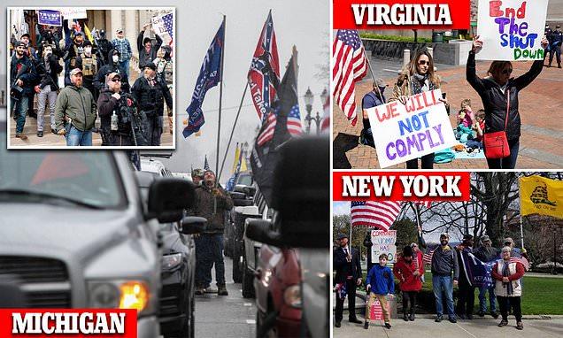 Protesters swarm Michigan, North Carolina, Ohio, Utah and Wyoming to demonstrate lockdown orders