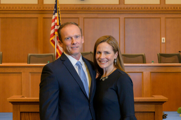 Amy Coney Barrett, family seen leaving home hours ahead of SCOTUS pick announcement