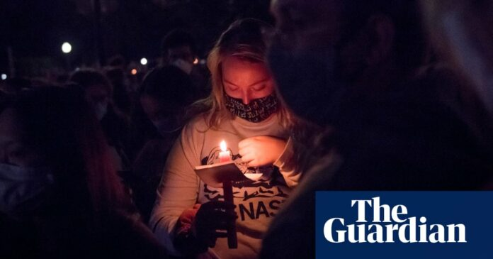 'I will fight!': mourners' vow at supreme court vigil for Ruth Bader Ginsburg