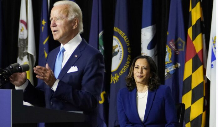 Joe Biden: Kamala Harris ready to step in 'if somebody pushed me off a roof or something'