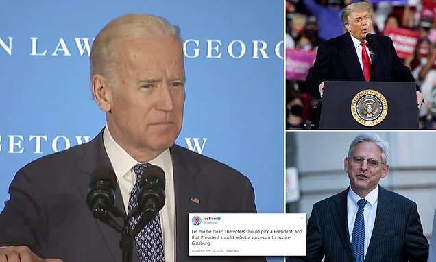Joe Biden said in 2016 that it is a president's 'constitutional duty' to fill a SCOTUS seat