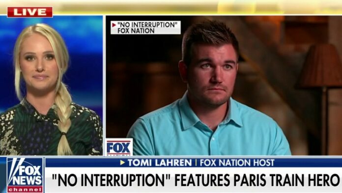 Tomi Lahren talks to Oregon congressional candidate, 27, who became American hero