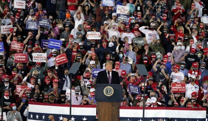 Trump at Moon Township, Pennsylvania rally rips Biden on Supreme Court