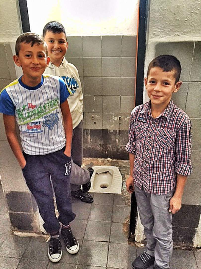 boys in the bathroom