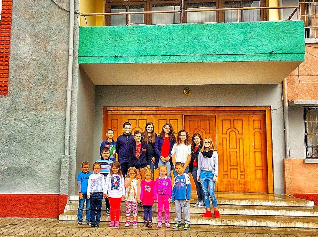 Students at Naim Frashri School