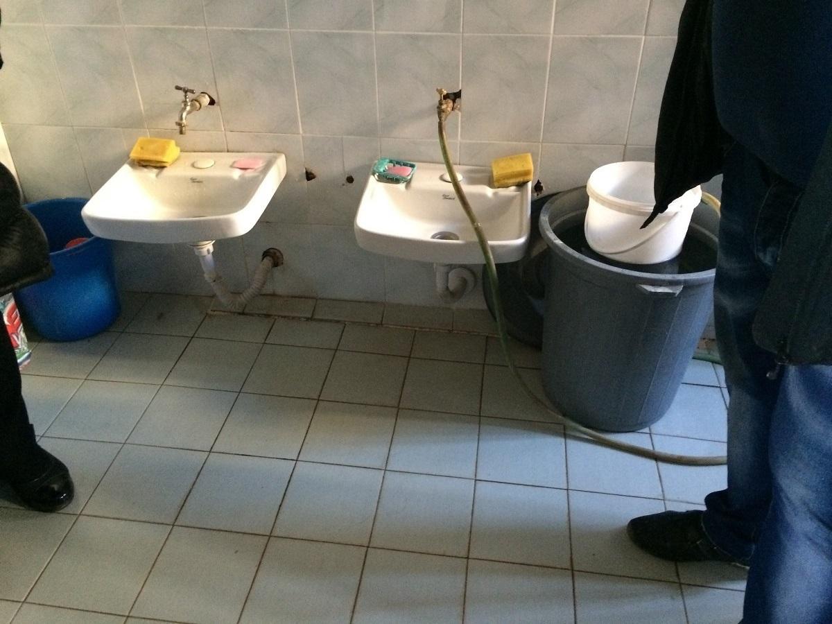 Sinks in Albanian Kindergarten