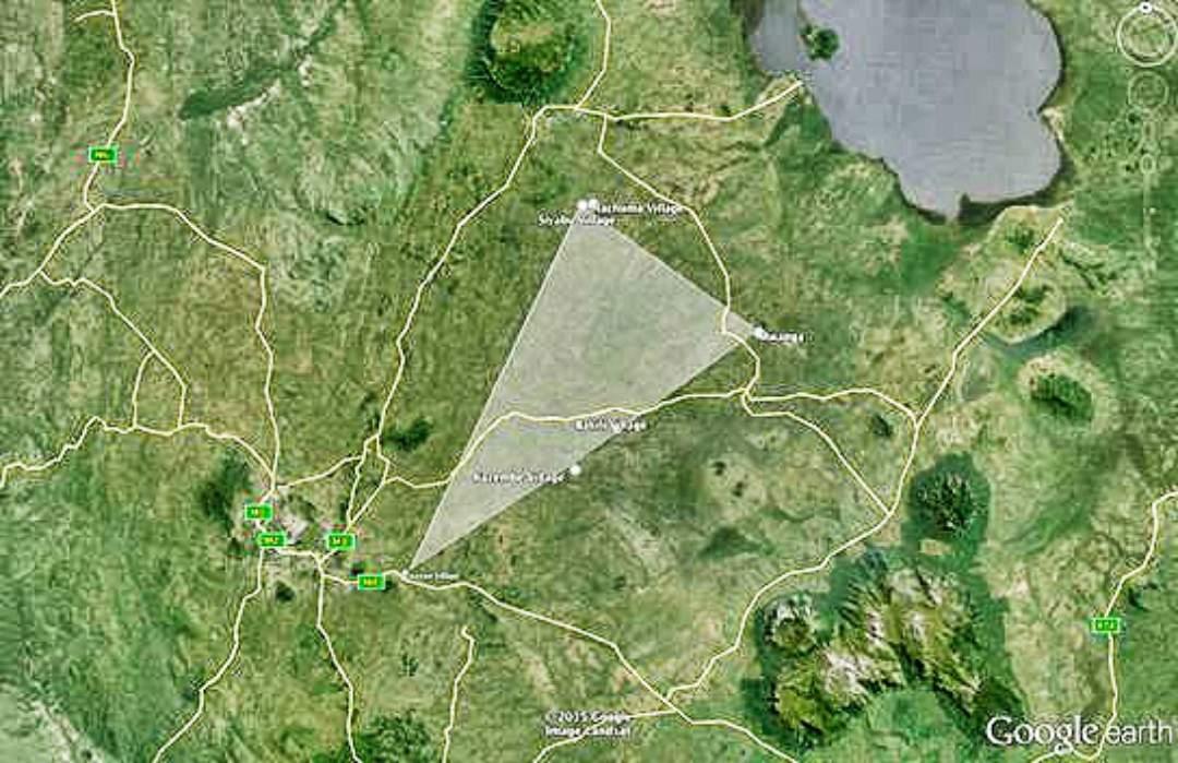 map of Nachuma Village, Malawi