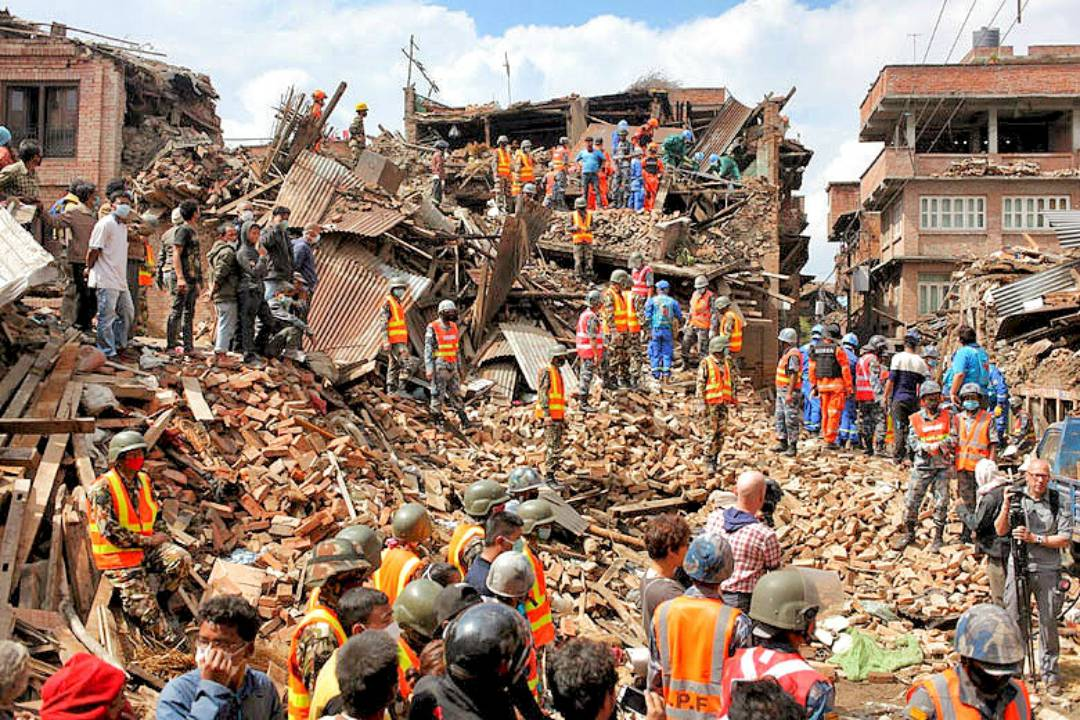 Nepalese First Responders on the scene