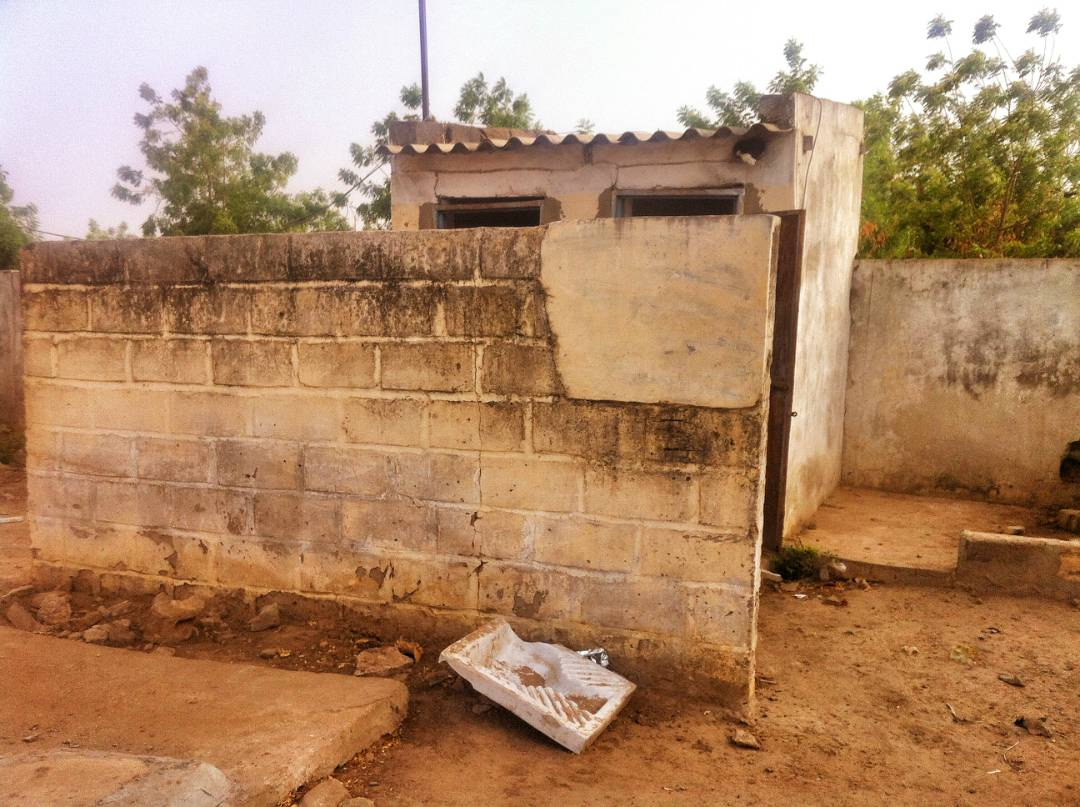 Site of the latrine