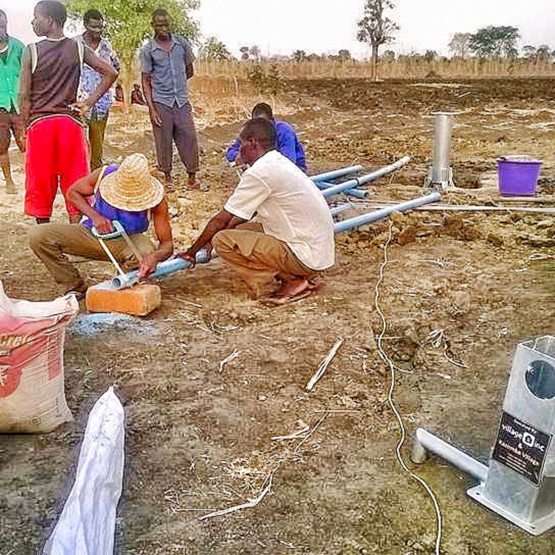 instalation of the well