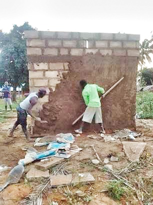 Building the Walls of the Latrine