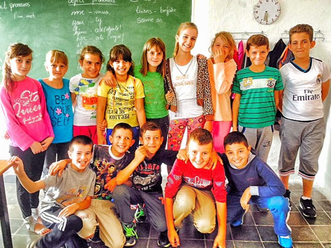 Students at the Javi Vreto School