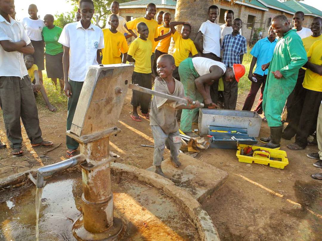 Repaired borehole and handpump - Uganda